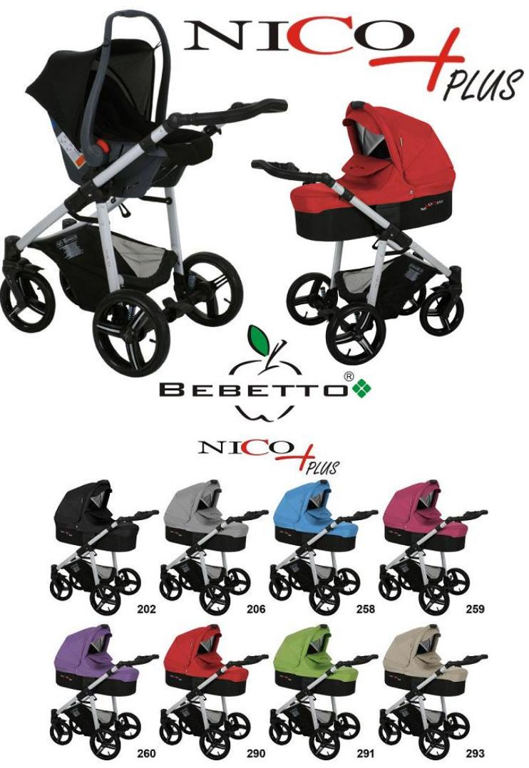 детская коляска Bebetto Nico Plus 2 в 1